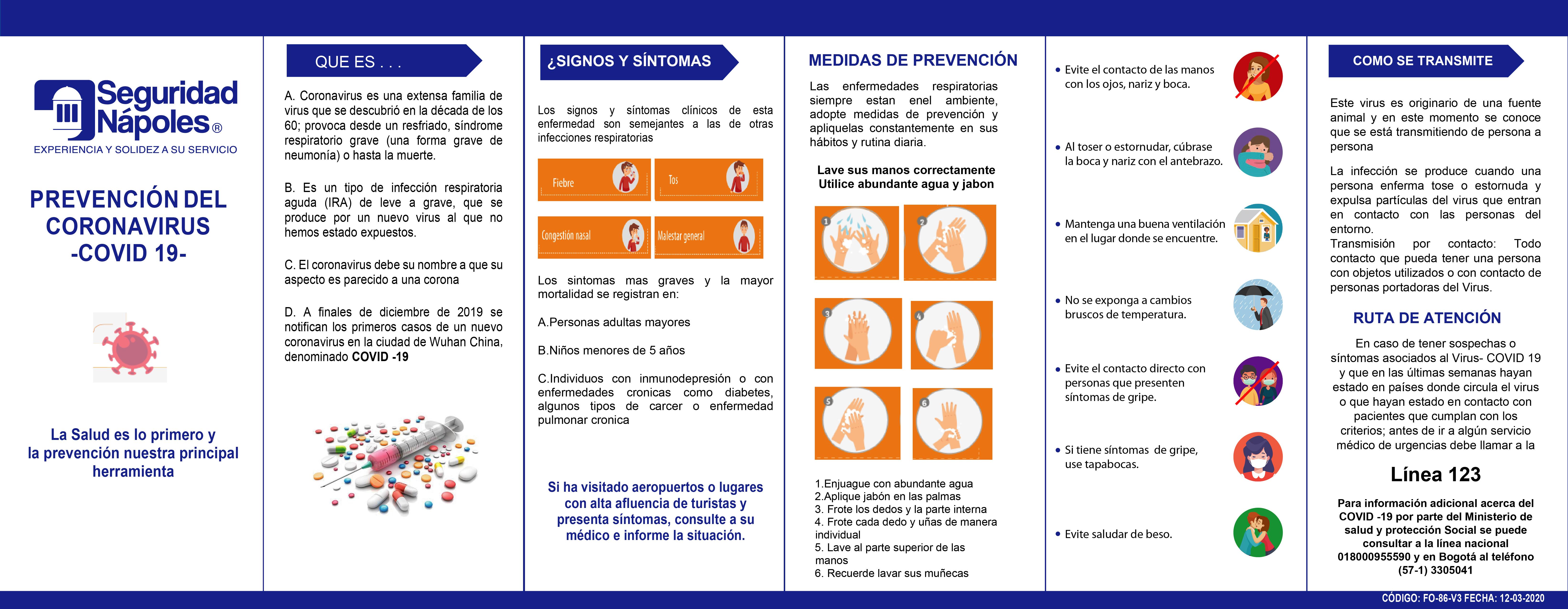Prevención del coronavirus covid-19