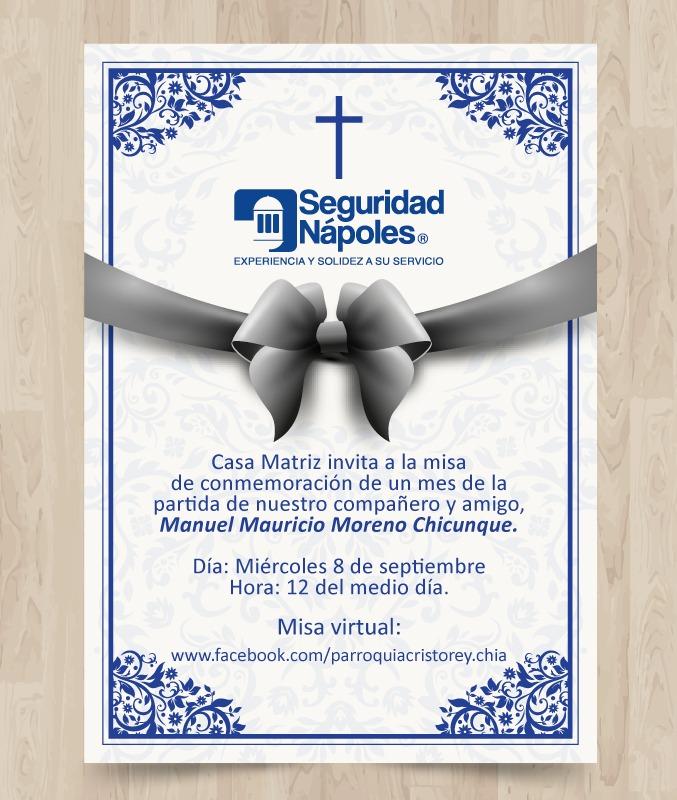 Misa de nuestro compañero Manuel Moreno.