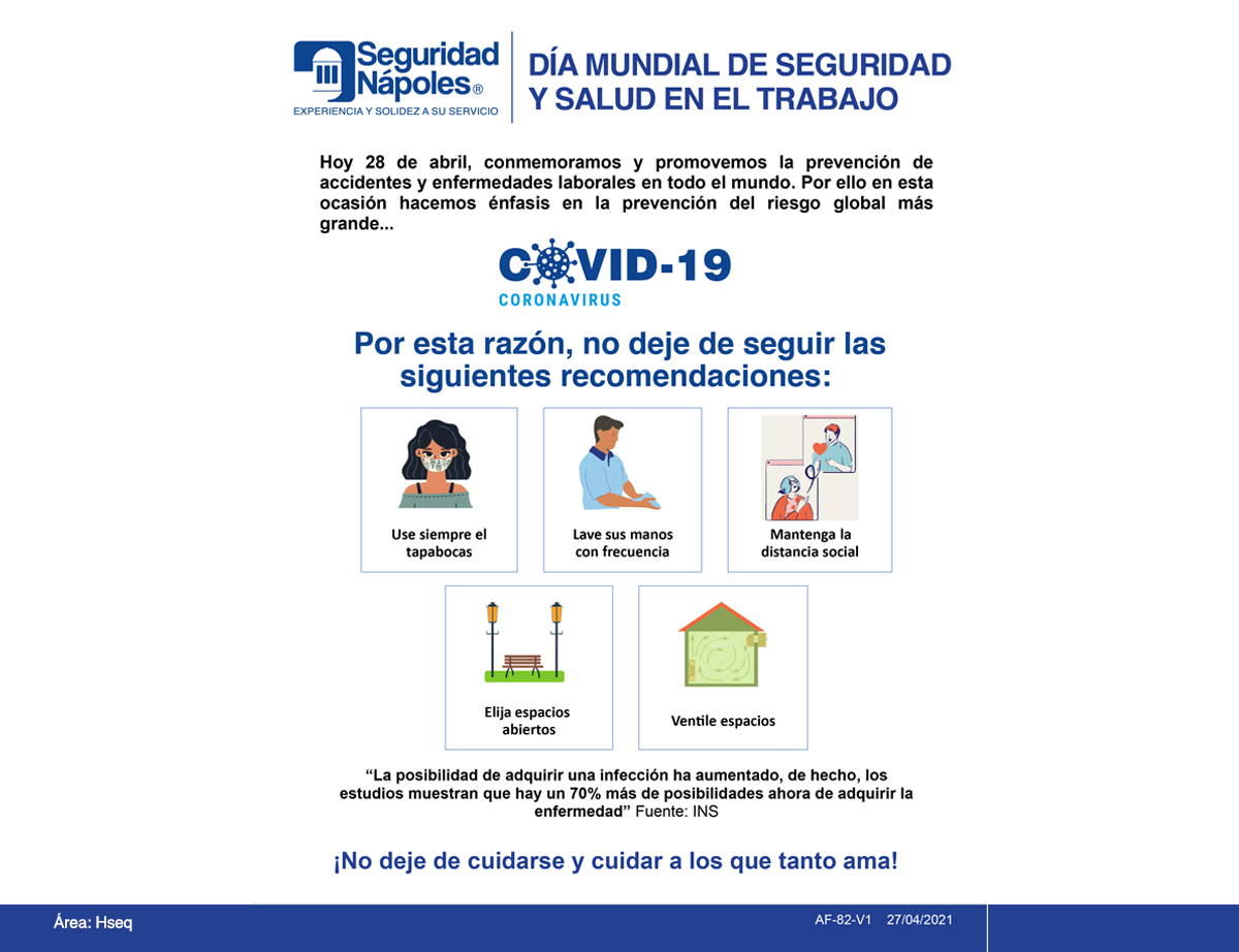 Día mundial de seguridad y salud en el trabajo