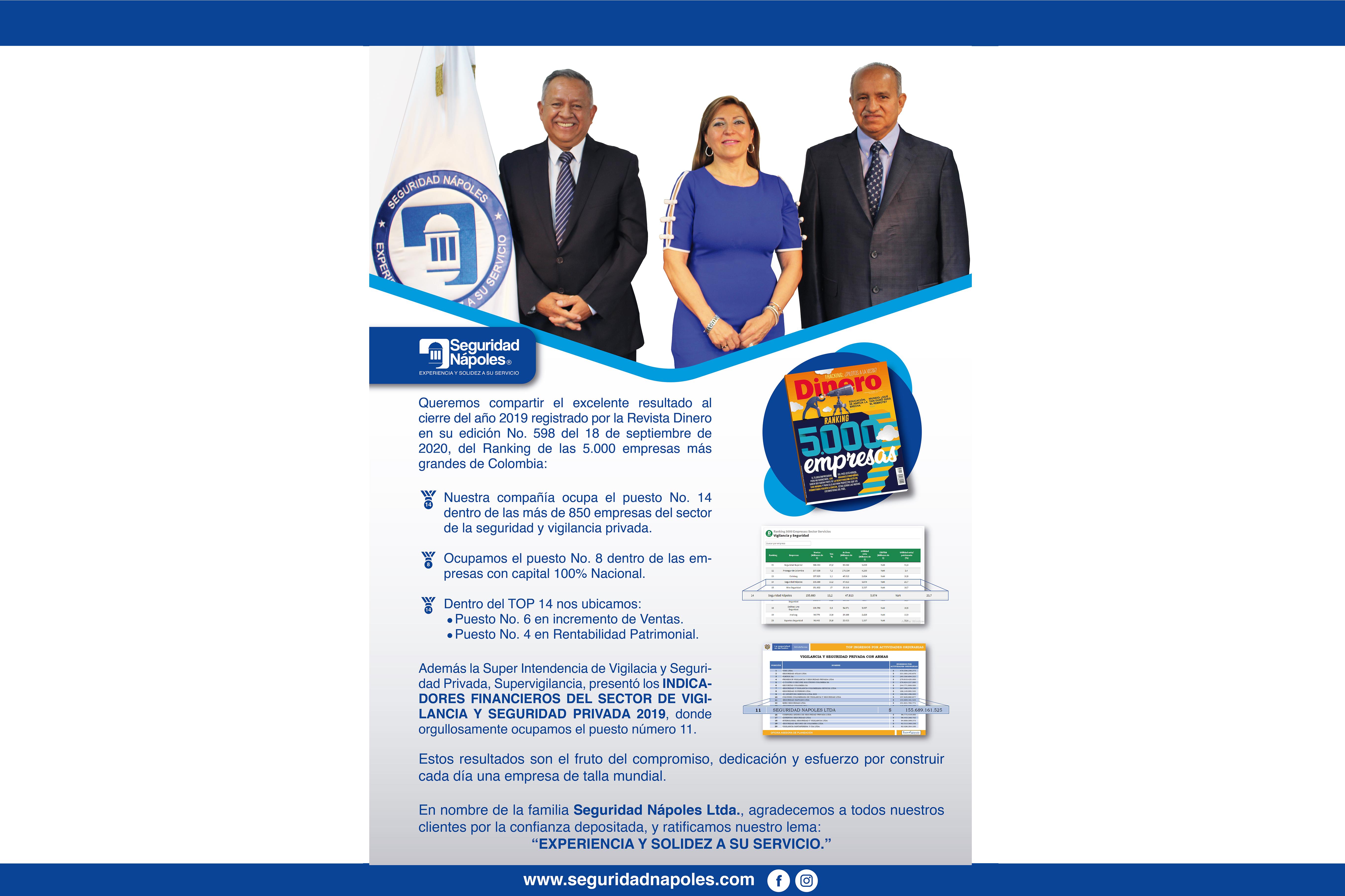 """Agradecemos a todos nuestros clientes y trabajadores por la confianza depositada, y ratificamos nuestro lema: """"Experiencia y solidez a su servicio."""""""